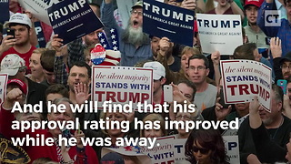 Trump's Approval Rating Skyrocket After Asia - Video