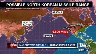 Map shows North Korea's missles strong enough to reach Las Vegas, other major cities - Video