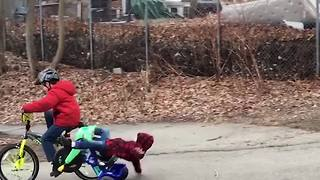 Two Little Boys Fail At Cycling - Video