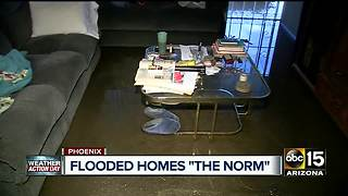 Apartment in central Phoenix flooded after heavy storm - Video