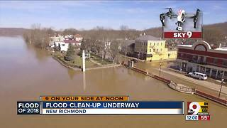 New Richmond business start to reopen as flood cleanup continues - Video