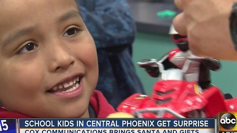 Cox brings special holiday surprise for Phoenix kids