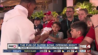 Super Bowl Opening Night draws a crowd in Miami