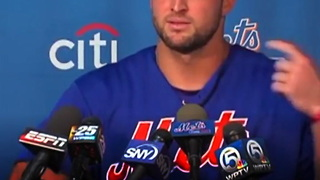 Tim Tebow Surprises Reporter With Unexpected Answer - Video