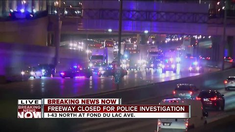 I-43 northbound shut down near downtown due to a law enforcement issue