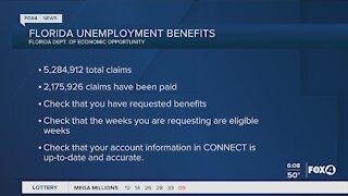 Florida unemployment benefit update