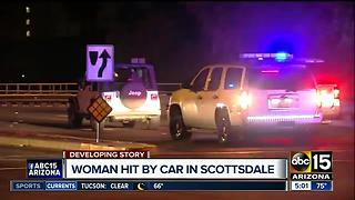 Woman hit by car in Scottsdale left in critical condition - Video
