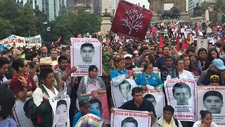 Mexico marks third anniversary of 43 disappeared students - Video