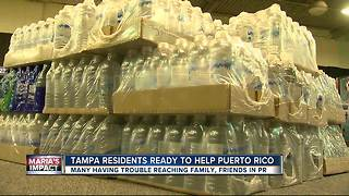 Tampa Bay residents already collecting donations for Puerto Rico after Hurricane Maria - Video
