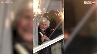 Neighbors throw birthday surprise for 86-year-old during lockdown