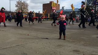 Toddler Joins Parade Party - Video
