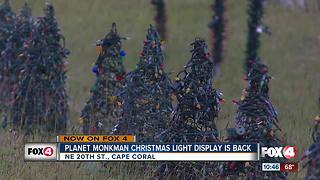 Planet Monkman Christmas Light Show returns - Video