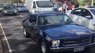 Procession of Cars Bid Farewell to Holden - Video
