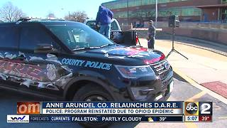Anne Arundel County relaunches D.A.R.E. program - Video