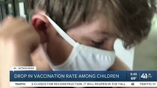 Drop in vaccination rates among children