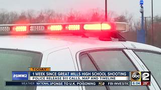 Evidence shows that Great Mills High School shooter shot himself, 911 calls released - Video