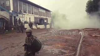 Police fire teargas to disperse Kenya protesters