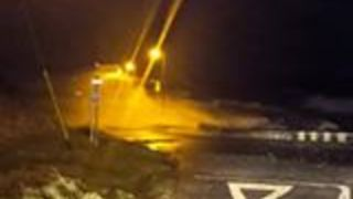 Waves From Storm Eleanor Seen Surging on Western Irish Coast - Video