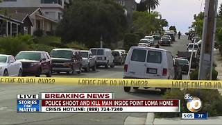 San Diego police shoot man in Point Loma home - Video