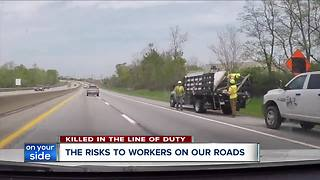 Move over law: The risk to workers on our roads - Video