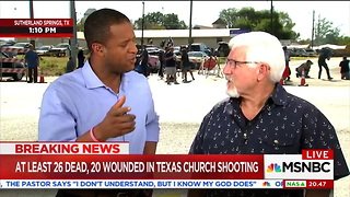 MSNBC Anchor Asks Texas Pastor If Prayers Are 'Enough' After Church Shooting — His Answer Is On-Point - Video