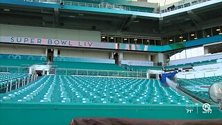 Crews working overtime to get Hard Rock Stadium ready for Super Bowl LIV