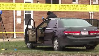 Cleveland police use tourniquet on a shooting victim early Wednesday morning