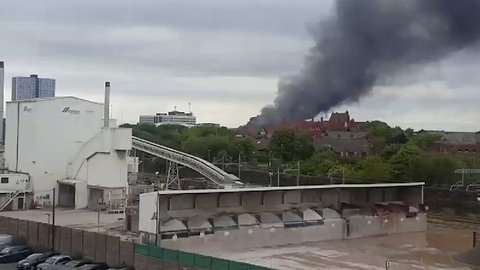 Dozens of Firefighters Called to Salford Recycling Plant Fire