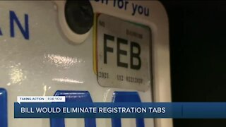 Bill would eliminate registration tabs