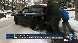 Icy roads: Denver residents say their streets are dangerous