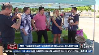 Mat Franco makes donation to Animal Foundation - Video