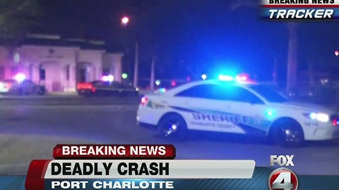 Fatal crash on Tamiami Trail in Port Charlotte Monday morning