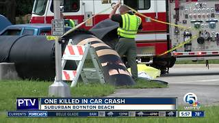 Deadly crash kills Wellington man in suburban Boynton Beach - Video