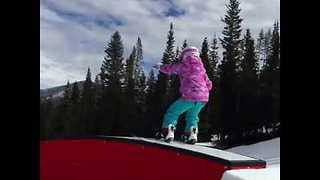 Kid Crushes it on Snowboard - Video