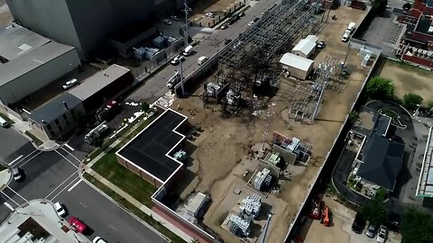 WATCH: Drone video of massive fire at Madison Gas & Electric substations