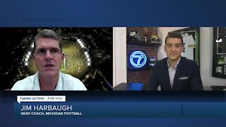 Jim Harbaugh talks about facing Mel Tucker, as Brad Galli reports from Big House