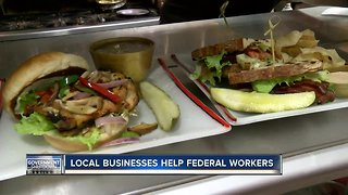 Local businesses are helping out those affected by the government shutdown