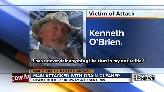 Police:  Man attacked with drain cleaner on the job - Video
