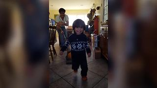 Man Chases A Tot With A Vacuum Cleaner - Video