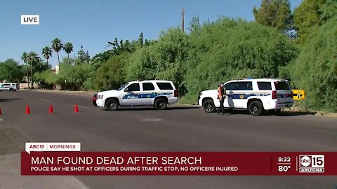 Man accused of shooting at Phx officer found dead