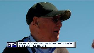 99-year-old vet takes the flight of his life - Video