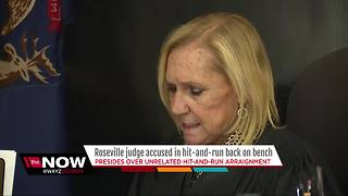 Roseville judge accused in hit-and-run back on the bench - Video