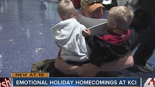 Families re-unite at KCI before Thanksgiving - Video