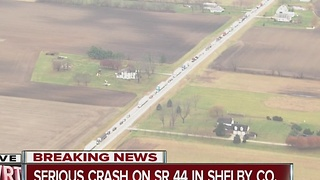 2 people flown from multi-vehicle crash in Shelby Co. - Video