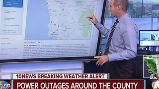 Breaking Weather Alert: Power Outages Around the County - Video