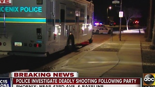 Police investigating deadly shooting at a south Phoenix house party - Video
