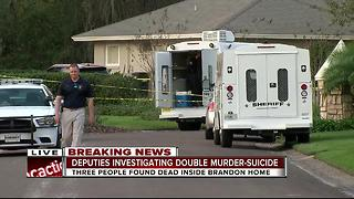 Three dead at house in Brandon, possible double murder-suicide, deputies say - Video