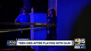 Teen dies after playing with gun with a friend