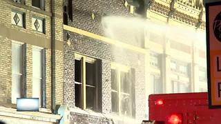 One dead in Plymouth apartment fire - Video