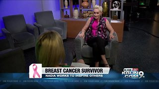 Breast cancer survivor finds beauty in the battle - Video